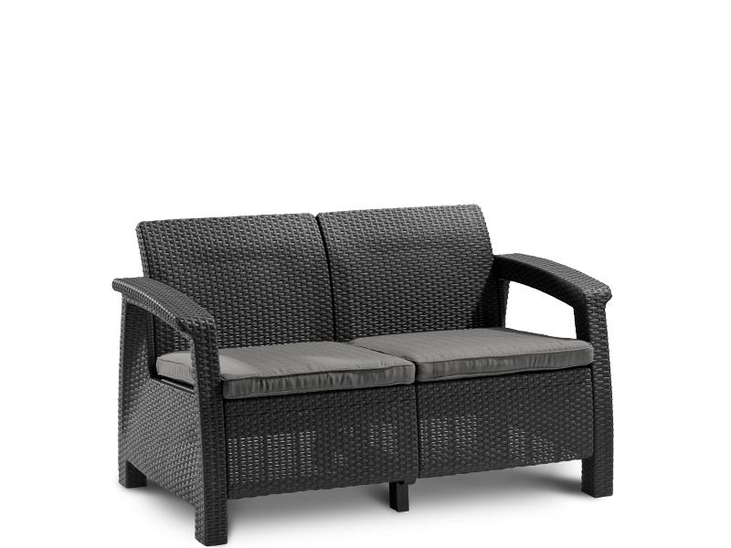 sofa corfu love seat graphite. Black Bedroom Furniture Sets. Home Design Ideas
