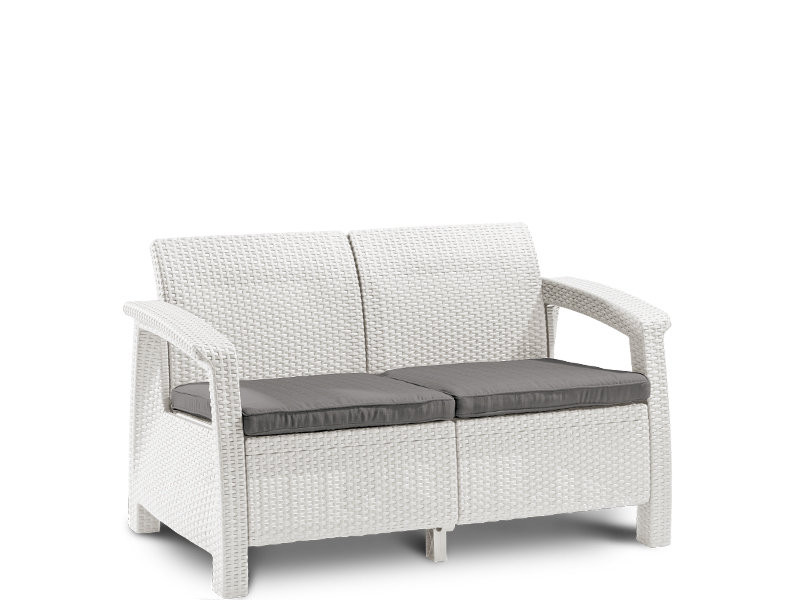 sofa corfu love seat white. Black Bedroom Furniture Sets. Home Design Ideas